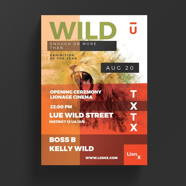 Wildlife flyer Gratis Psd
