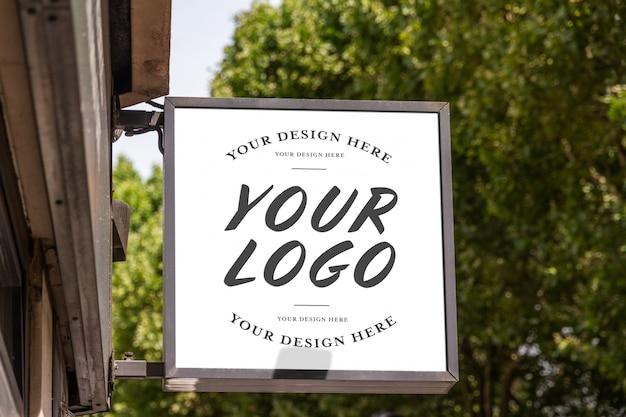 Winkel merklogo sign mockup Premium Psd