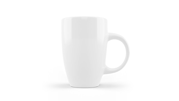 Wit ceramisch geïsoleerd mokmodel Gratis Psd