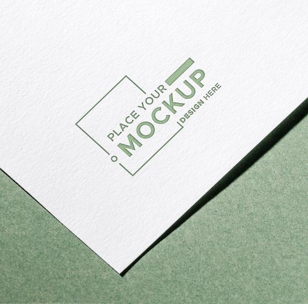 Wit close-up visitekaartje mock-up Premium Psd