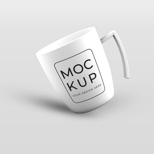 Wit koffiekopje mokmodel Premium Psd