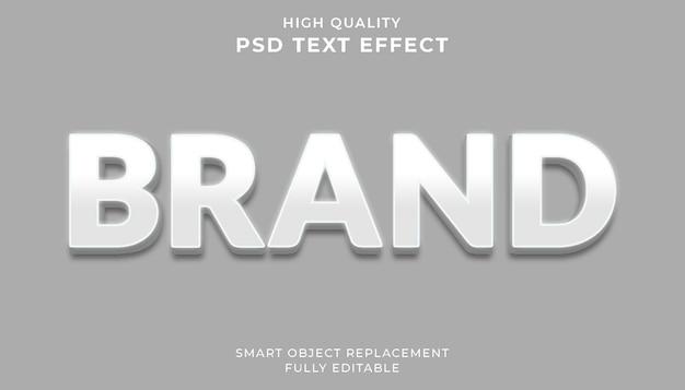 Wit merk teksteffect Premium Psd