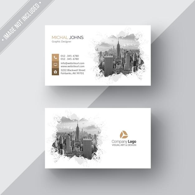 Wit modern visitekaartje Gratis Psd