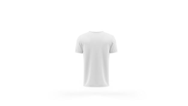 Wit t-shirt mockup sjabloon geïsoleerd, achteraanzicht Gratis Psd