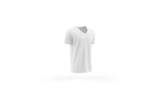 Wit t-shirt mockup sjabloon geïsoleerd, vooraanzicht Gratis Psd