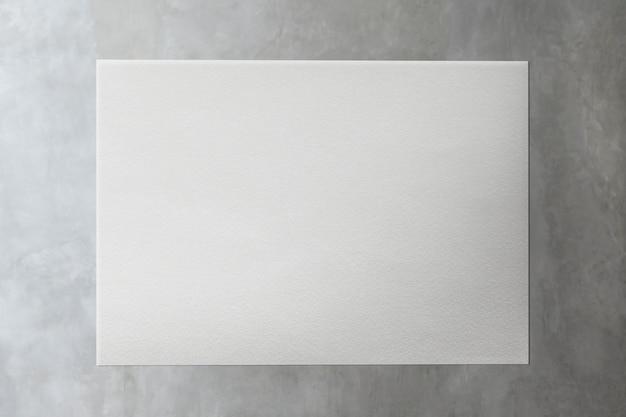 Witboek over marmeren mockup illustratie Gratis Psd