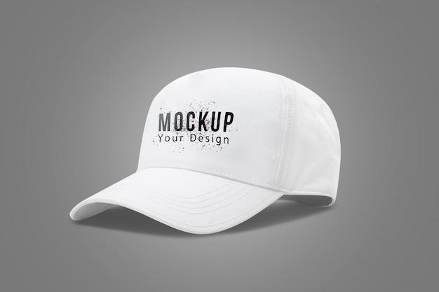 Witte baseball cap mock up sjabloon Premium Psd