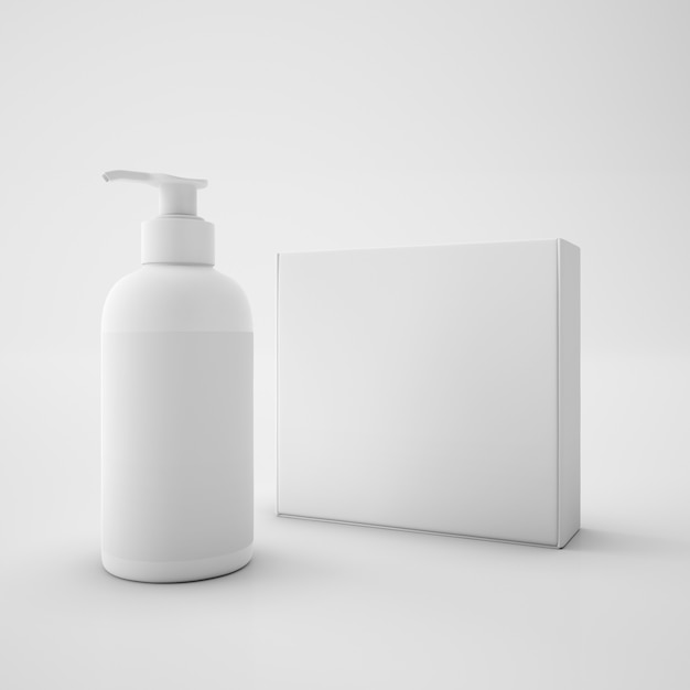 Witte doos en zeepbakje Gratis Psd