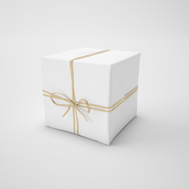 Witte doos met koord Gratis Psd