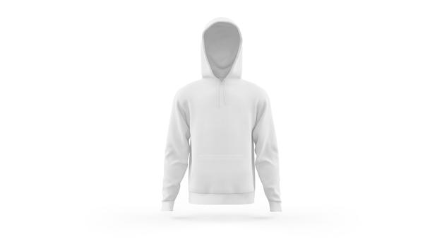 Witte hoodie mockup sjabloon geïsoleerd, vooraanzicht Gratis Psd