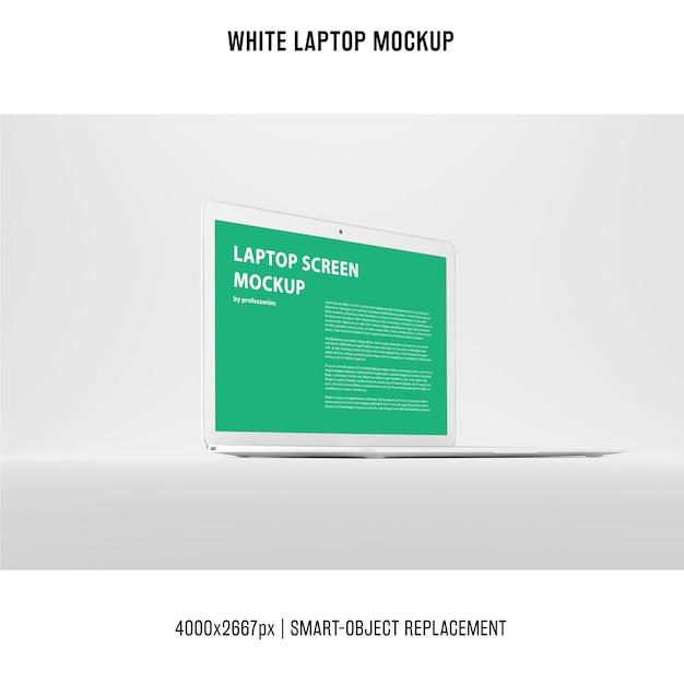 Witte laptopmodel Gratis Psd