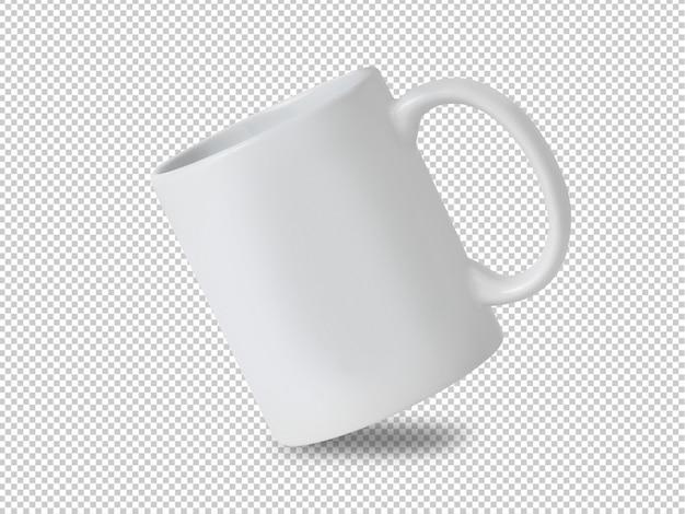 Witte mok cup mockup op transparant. Premium Psd