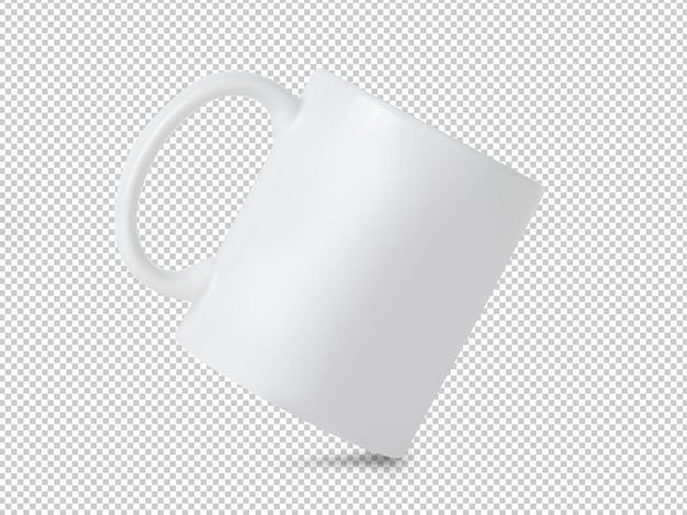 Witte mok cup mockup op transparant Premium Psd