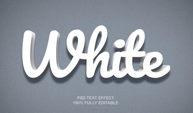 Witte stijl teksteffect sjabloon Premium Psd