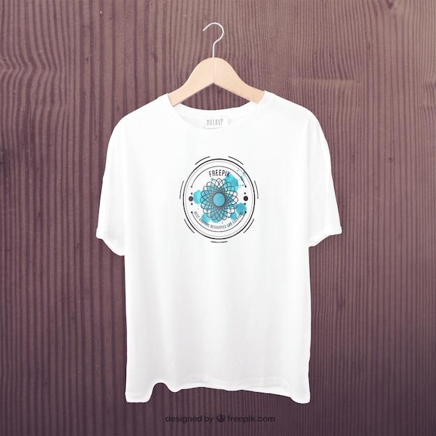 Witte t-shirt voor mockup Gratis Psd