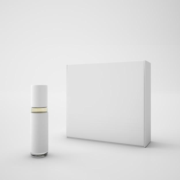 Witte verpakking en lippenstift Gratis Psd