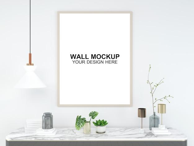 Woonkamer interieur huis mockup vloer meubilair achtergrond, minimalistisch ontwerp kopie ruimte sjabloon psd Premium Psd