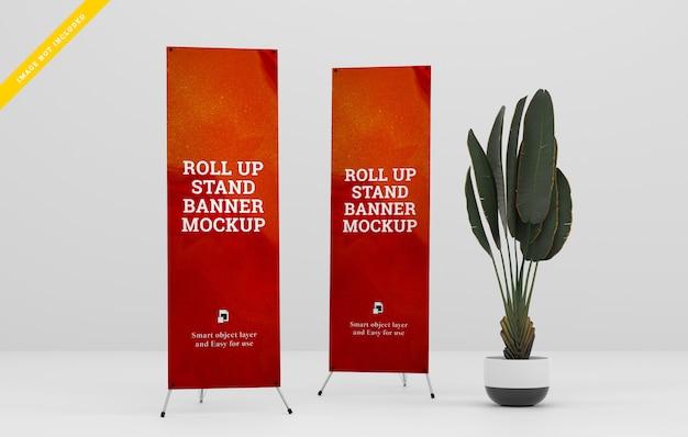 X-banner stand maqueta. PSD Premium