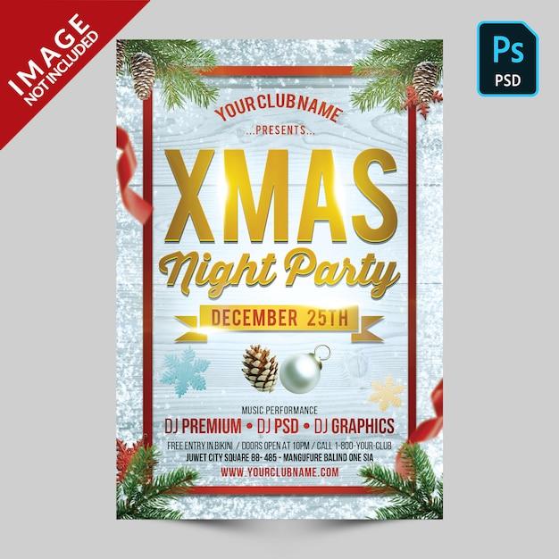 Xmas night party Premium Psd