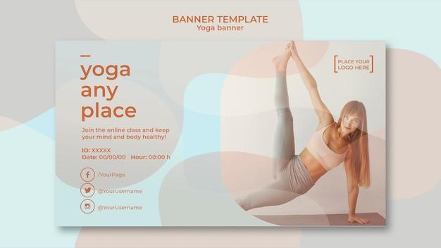 Yoga banner sjabloon concept Gratis Psd