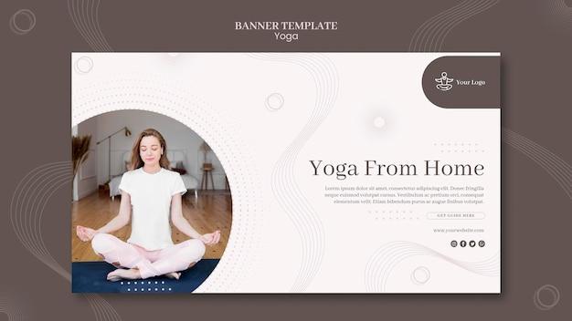 Yoga concept sjabloon voor spandoek Gratis Psd