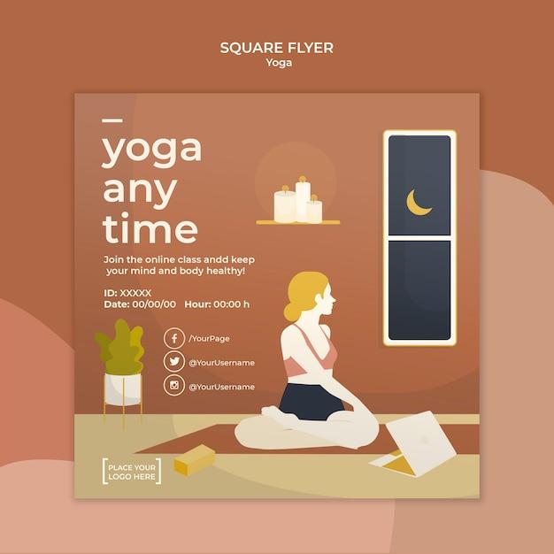 Yoga flyer sjabloon thema Gratis Psd