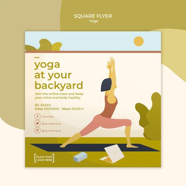 Yoga flyer sjabloonontwerp Gratis Psd