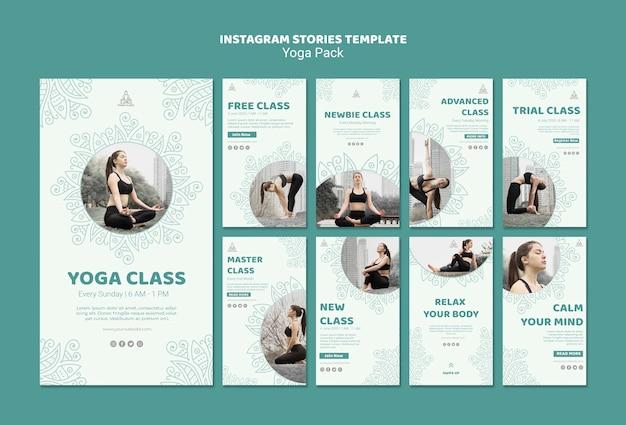 Yoga instagram verhalen sjabloon Gratis Psd