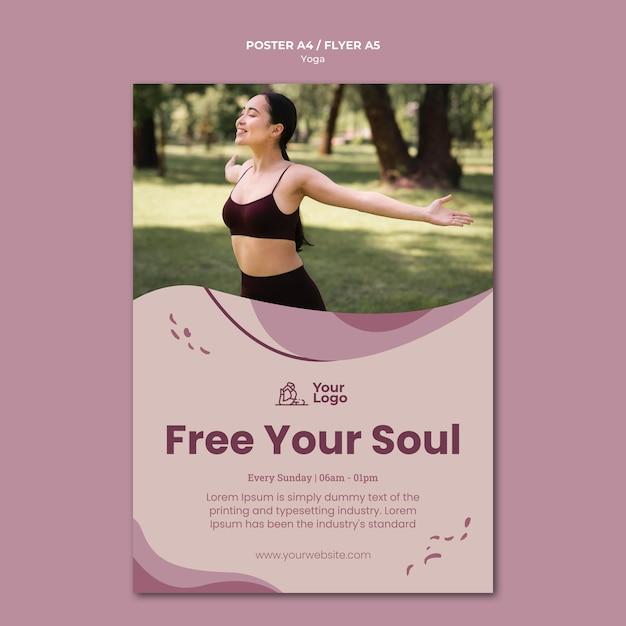 Yoga klasse poster sjabloon Gratis Psd