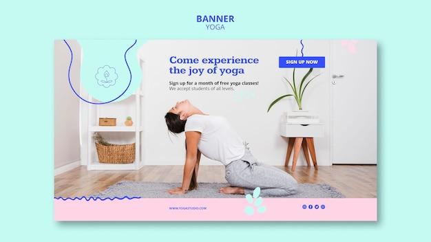Yoga lessen sjabloon banner Gratis Psd