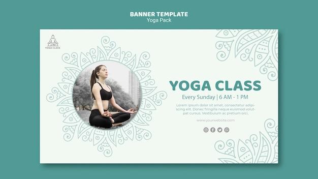 Yoga pack banner sjabloon concept Gratis Psd