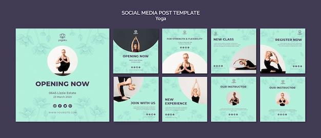 Yoga sociale media post sjabloon Gratis Psd