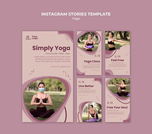 Yogales instagram verhalen sjabloon Premium Psd