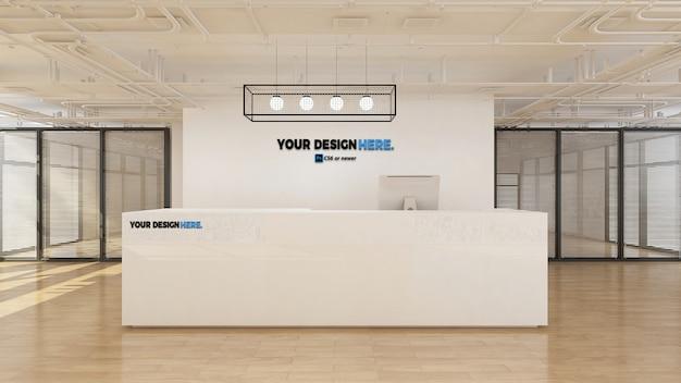 Zakelijk zakelijk office receptie mockup Premium Psd
