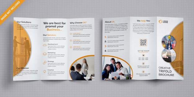 Zakelijk zakelijk trifold brochure Premium Psd