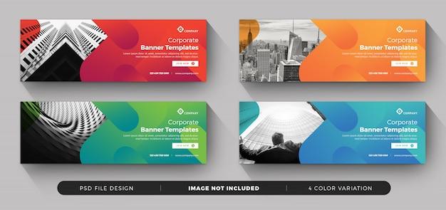 Zakelijke banner collectie Premium Psd
