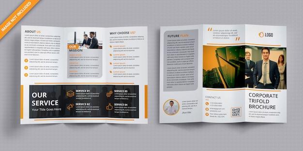Zakelijke driebladige brochure Premium Psd