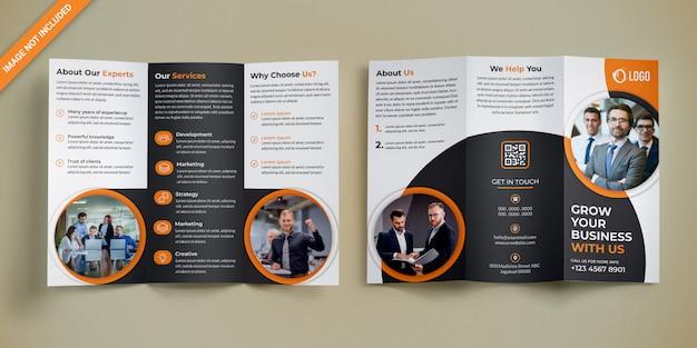 Zakelijke driebladige brochureontwerp Premium Psd