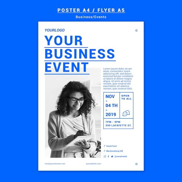 Zakelijke evenement poster sjabloon Gratis Psd