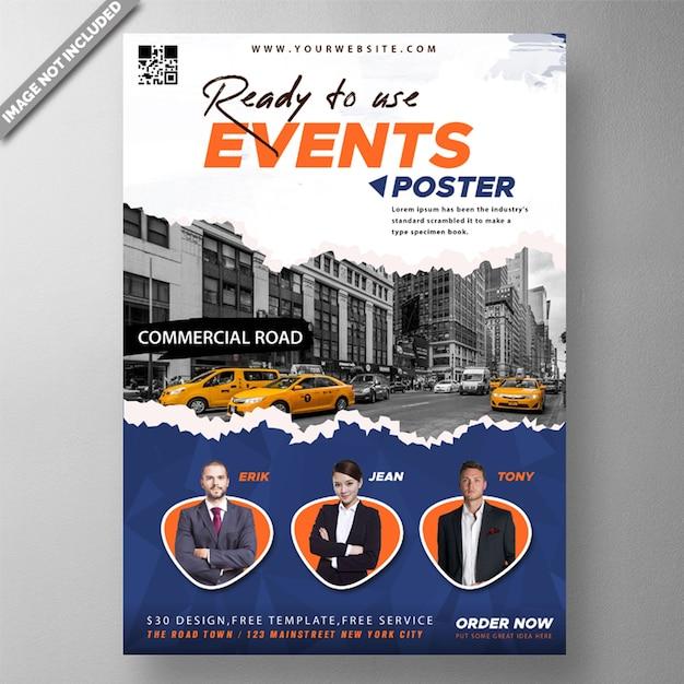 Zakelijke evenement poster Gratis Psd