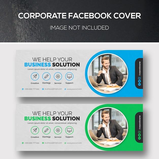 Zakelijke facebook-omslag Premium Psd