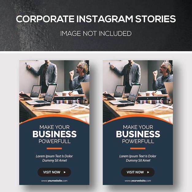 Zakelijke instagram-verhalen Premium Psd