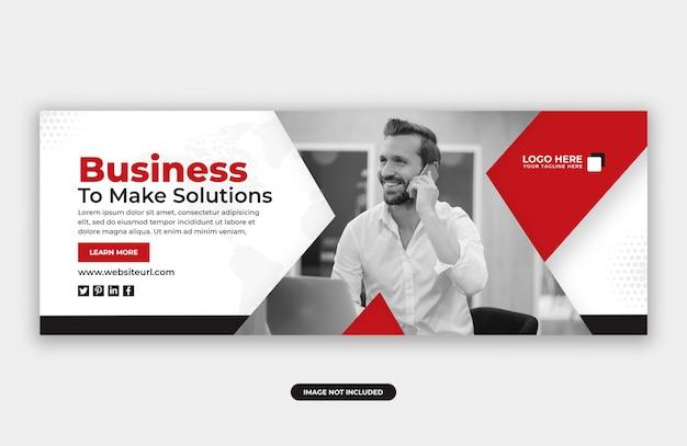 Zakelijke marketing facebook cover banner ontwerpsjabloon Premium Psd