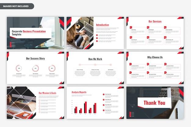Zakelijke moderne zakelijke presentatiesjabloon Premium Psd