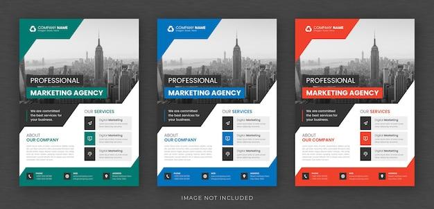 Zakelijke multifunctionele flyer ontwerp en brochure voorbladsjabloon Premium Psd