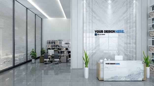 Zakelijke office receptie mockup Premium Psd
