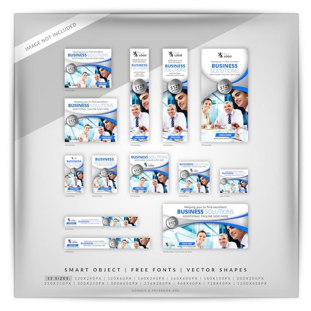 Zakelijke oplossingen schoon google & facebook ads Premium Psd