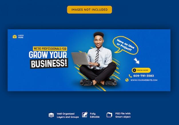 Zakelijke promotie en corporate facebook voorbladsjabloon Premium Psd