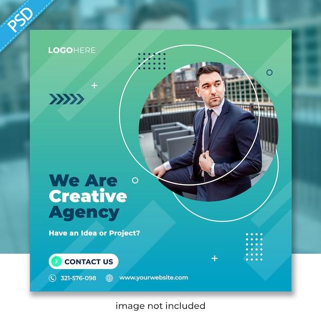 Zakelijke promotie en corporate voor sociale media instagram postbannersjabloon Premium Psd