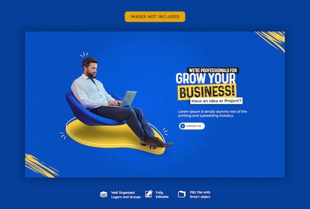 Zakelijke promotie en corporate webbanner sjabloon Premium Psd